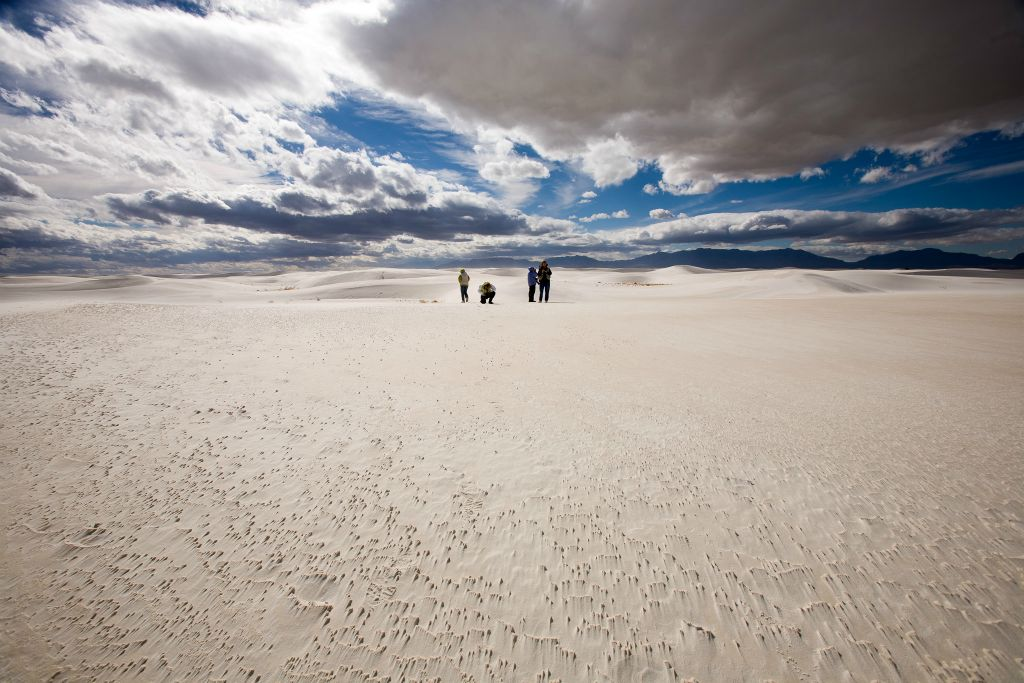 Photographers in White Sands