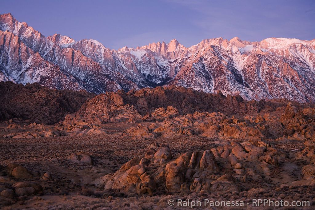Eastern Sierra Dusted with Snow