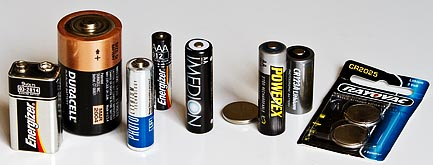 Common battery types you can test